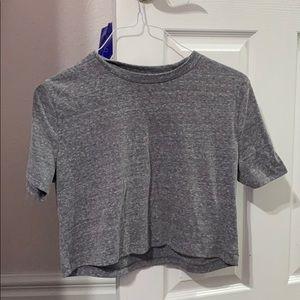 cropped grey shirt